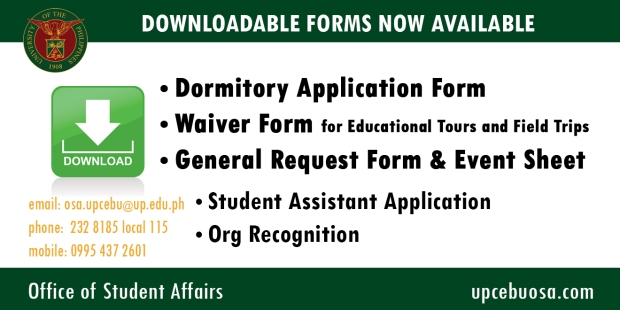 Announcement Forms Available