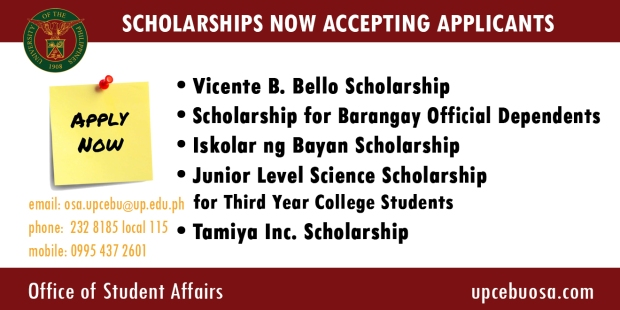 Announcement Scholarships Available